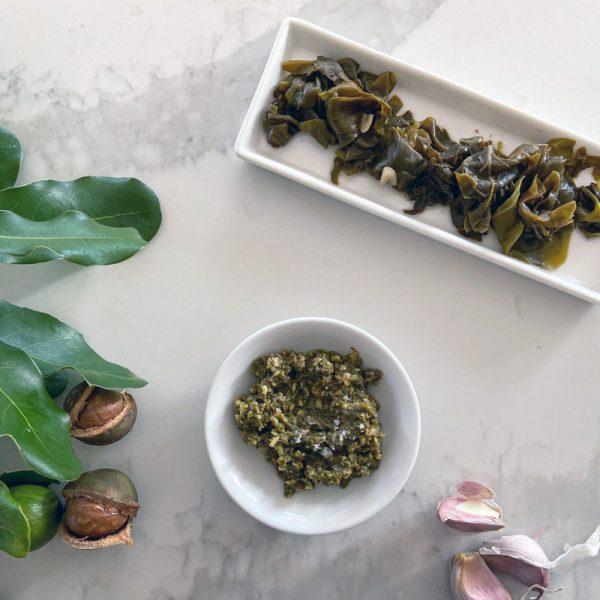 Warrigal Greens and Macadamia Nut Pesto